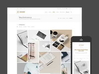 Multicorp - Clean Business WordPress Theme masonry responsive theme wordpress agency minimal clean business portfolio