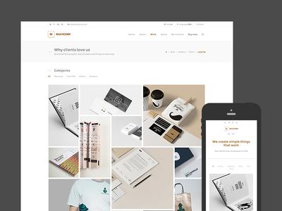 Multicorp - Clean Business WordPress Theme masonry responsive theme wordpress agency minimal clean business portfolio