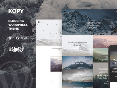 Kopy - Blogging WordPress Theme full image minimal clean writer theme wordpress blogging blog