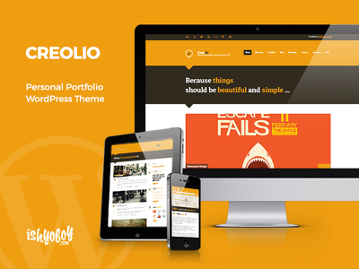 Creolio WordPress Theme blog flat creative unique portfolio theme wordpress
