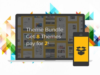Theme Bundle, Get 8 Themes Pay for 2! mobile modern responsive blog portfolio flat creative themes offer bundle wordpress theme