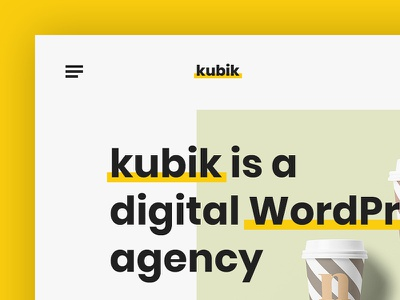 Kubik - Digital WordPress Agency experimental minimal ideas design wordpress portfolio