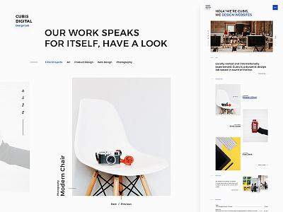 Cubis slideshow slider idea fullwidth homepage portfolio