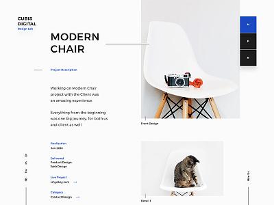 Cubis pagination navigation minimal clean gallery detail portfolio