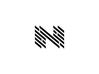 Nexus typography letter mark design graphic vector n black icon branding brand logo