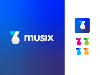 Musix vector inprogress work icon graphic design logo brand music