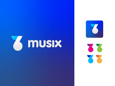 Musix vector inprogress work icon graphic design logo brand music