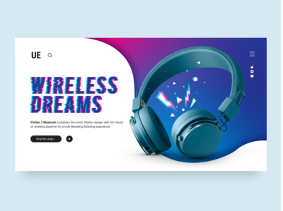 Plattan 2 Landing Page ux ui bluetooth urbanears music headphones design graphic homepage page home webdesign