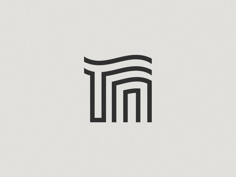 TN Monogram branding line logo monogram tn