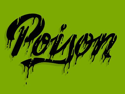 Poison letter procreate word halloween typography lettering illustration design