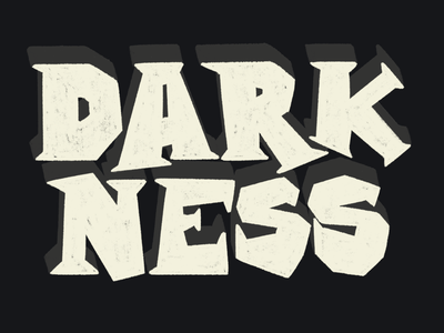 Darkness word typography procreate lettering letter illustration halloween design