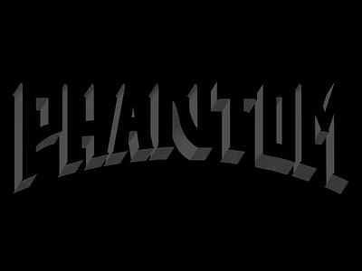 Phantom word typography procreate lettering letter illustration halloween design