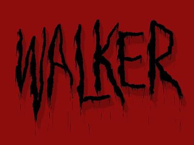 Walker word typography letter procreate lettering illustration halloween design