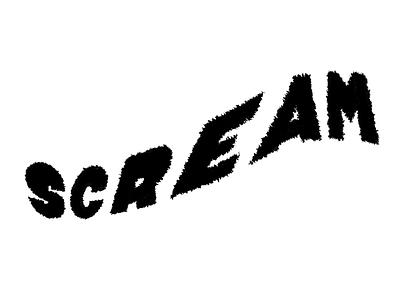 Scream word typography procreate lettering letter illustration halloween design