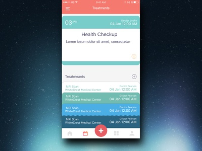 Treatment catalogue carousel medical ios