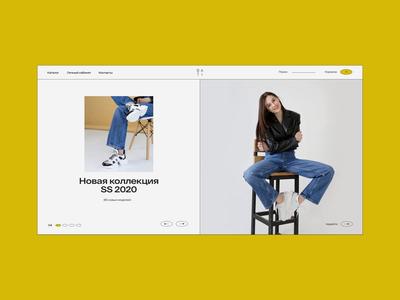 Bati - Motion minimalistic shoes shop ecommerce clean site web ux ui design