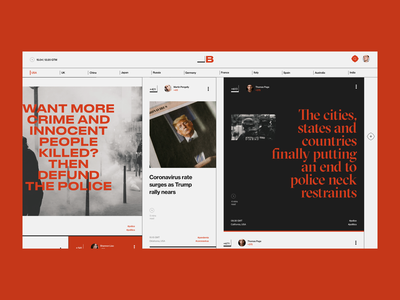 News site - concept politic newspaper news concept site web ux ui design