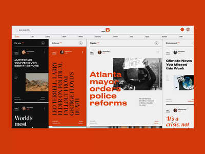 News site - concept politics newspaper news site web ui ux design