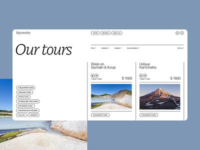 Tours concept typography travel tourism tours concept clean site web ux ui design