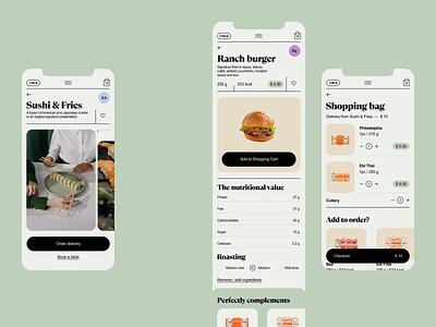 Limerick app clean restaurant delivery food mobile app ux ui design
