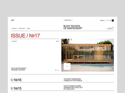 Construction company blog building build construction minimal concept clean site web ui ux design