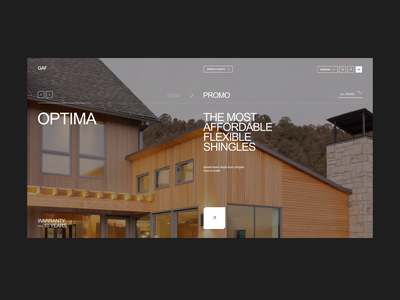 Construction company / motion repair build motion construction minimal concept clean site web ux ui design