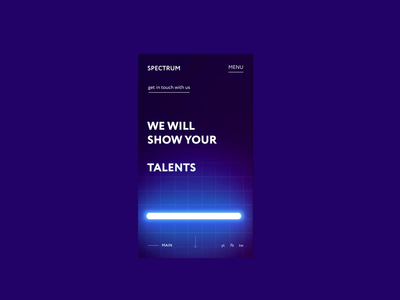 Spectrum mobile uvlamp ultraviolet education business concept clean site web ux ui design