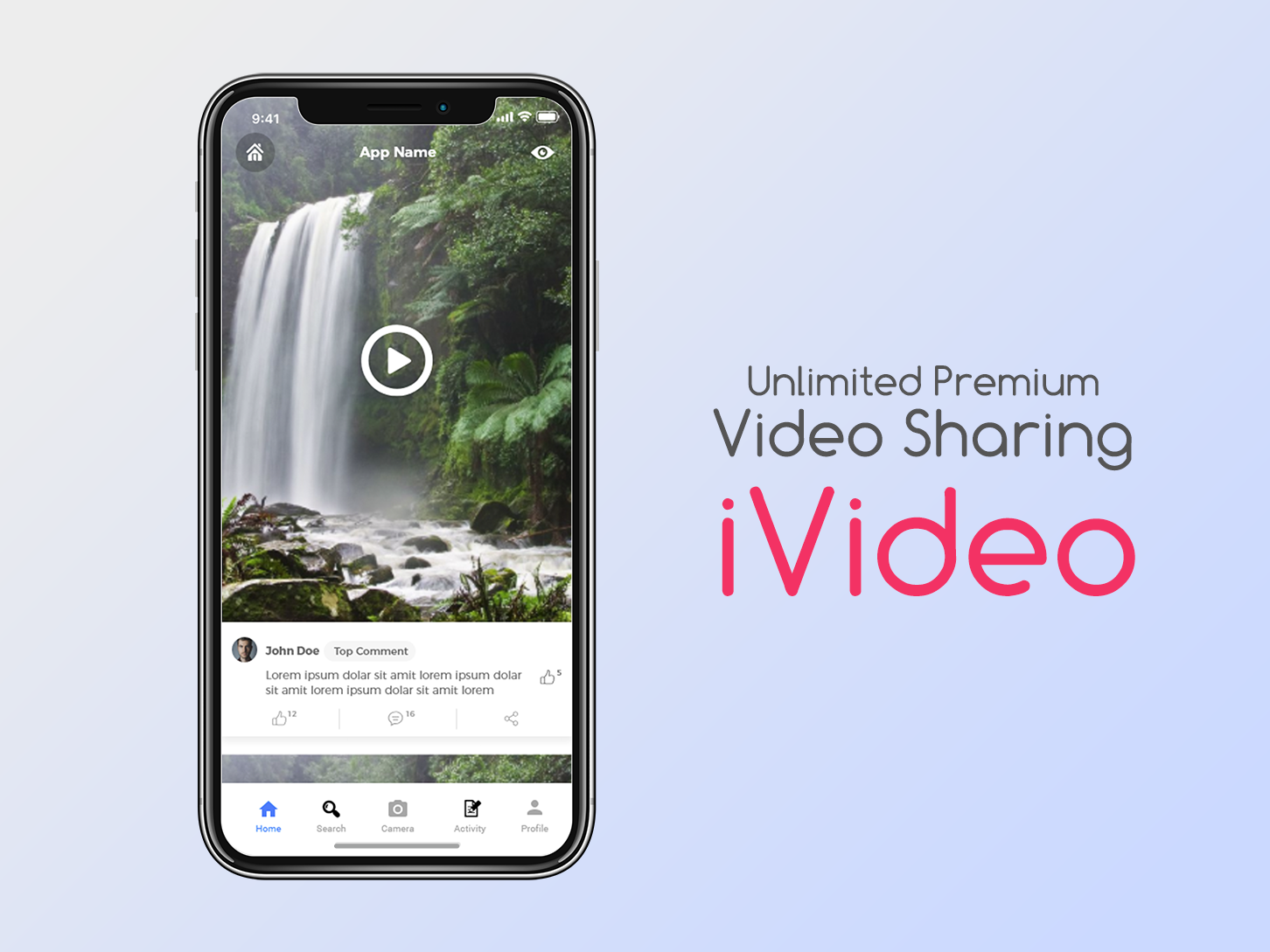 iVideo Video Sharing App by Usman Jalal on Dribbble
