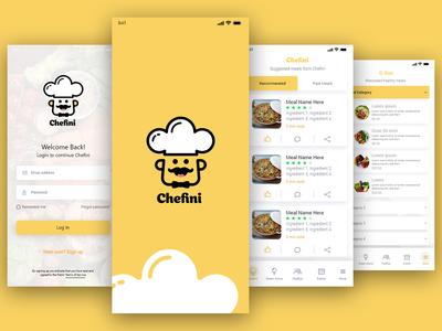 Cooking Booking App Design