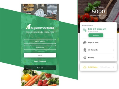 Super Market App UI Design