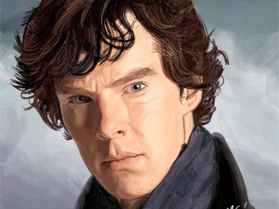 Benedict Cumberbatch digital art painting art digital