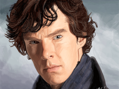 Benedict Cumberbatch digital art painting art digital