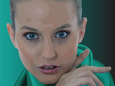 Portrait of Lynsey  vector art painting vector art digital