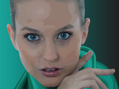 Portrait of Lynsey  vector art painting vector art digital