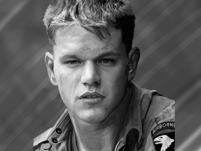 Matt Damon painting digital artwork art