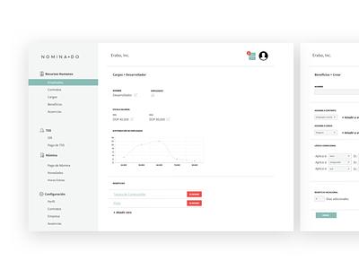 Payroll and HR App - Nómina hr finance payroll design ui ux