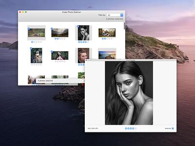 Designing macOS App for photographers - EraboApp app design user experience userinterface flow photo stars mac macosx catalina apple human interface ui rates photography macos ux design