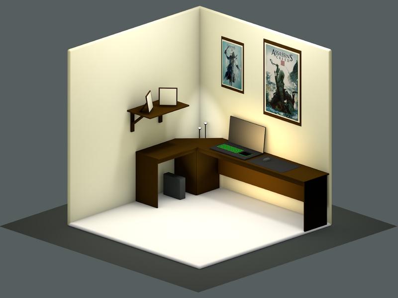 My Favourite Place- My workspace! design dribbble schoolofmotion cg shapes razer workspace render c4d cinema 4d