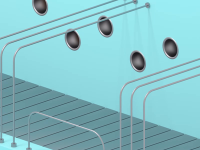 Factory Scene: Pills dailyrender oddlysatisfying silver factory blue gsgdaily mdcommunity mgcollective redshift3d 3d gold render loop dribbble cinema4d animation after effects c4d