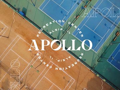 Apollo Rec Center Branding logo design brand design brand identity design vector branding logo typography graphic design