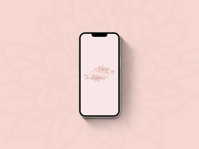 Stay Positive Mobile Wallpaper | Weekly Warm-up ui illustration flowers stay positive handdrawn floral banner pink pretty banner floral rose gold mobile wallpaper wallpaper phone design branding logo vector typography graphic design