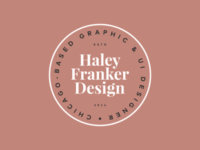 Personal Branding Logo Badge | Haley Franker Design circle logo rebrand brand design color palette badge design logo badge badge personal branding brand identity brand logo design logo branding vector typography design graphic design