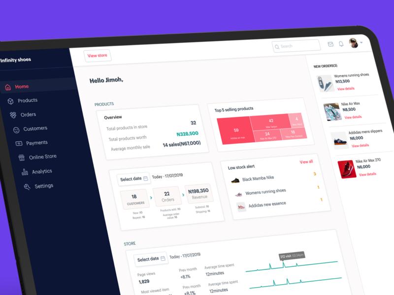 E-commerce platform dashboard exploration shopping shop online shopping online shop seller ui dashboad ecommerce