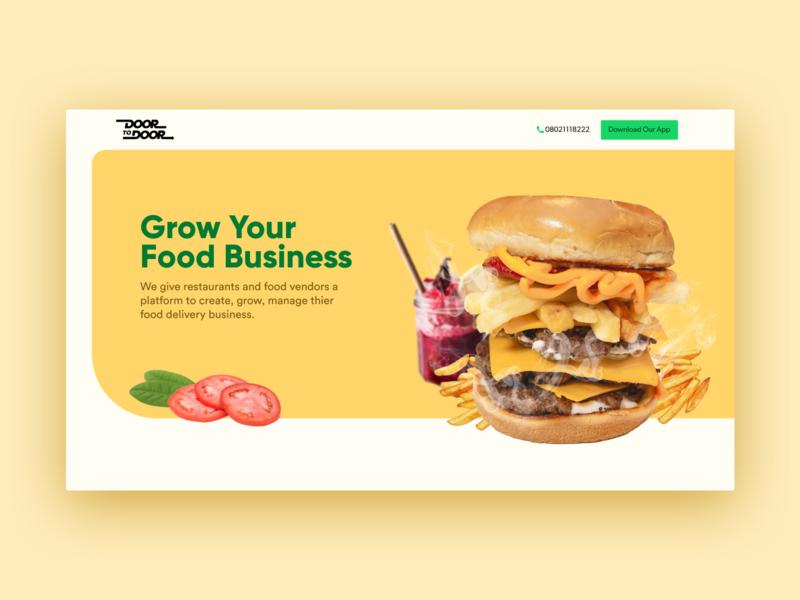 Food delivery service design exploration ui delivery service delivery app deliver home screen homepage home food