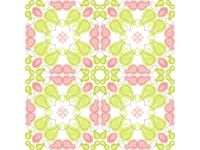 Pattern Salmon & Green