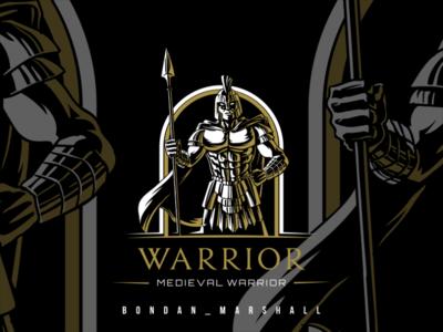 warrior logodesign wacom draw vector logo illustration design drawing artwork art
