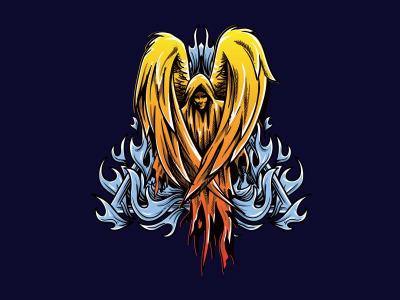 angel wacom draw vector graphicdesign logo illustration design drawing artwork art