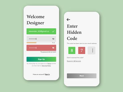 Sign Up for simple app uiux ux design ui design vector dailyui typography design ux illustration branding ui dribbble best shot behance dribbble