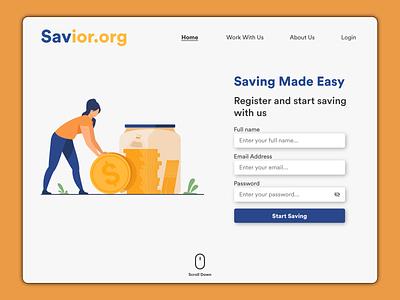 Money Saving Website Design website minimal vector animation dailyui typography design branding illustration uiux ux ui behance dribbble