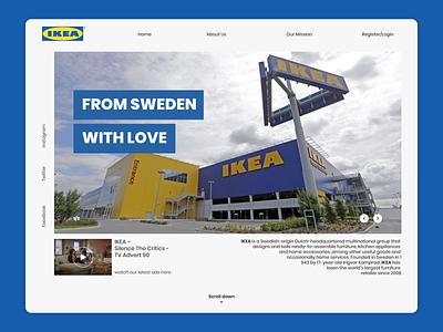 Ikea Landing Page Website Design sweden ikea blue uiuxdesign uxdesign uidesign uiux ux ui landingpage simple website design website behance dribbble